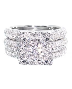 3 Piece Cluster Dome Ring Set (2.50 ct)