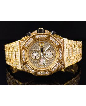 Iced Out Stainless Steel Simulated Diamond Watch AP-03