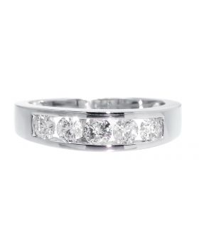 Five Stone Round Cut Diamond Band Ring in 14k (1.05ct)