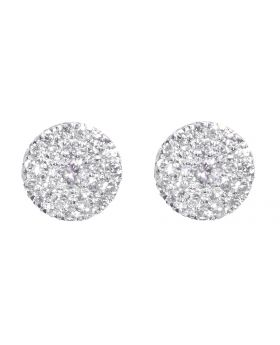 6mm Round Diamond Earrings in White (0.33 ct)