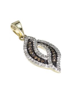 Brown Diamond Swirl Fashion Pendant (0.30ct)
