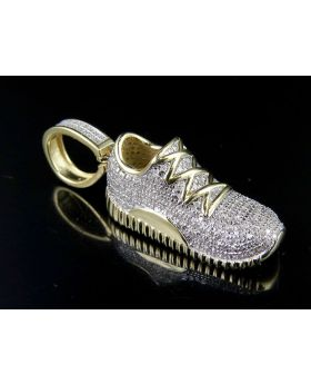 10K Yellow Gold Jordon Shoe Yeezy Jumpman Pendant