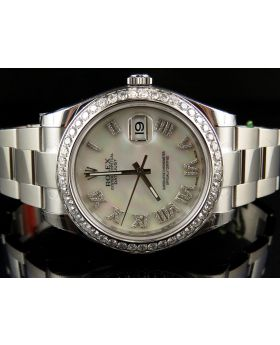 Rolex Datejust II 116300 Watch w/ Custom Set Diamonds (4.0 ct)