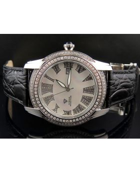 Aqua Master White Gold Mother-Of-Pearl Diamond Swiss Watch W#127-2 (2 ct)