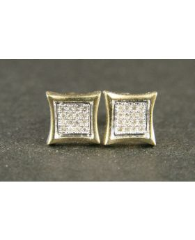 Mini 5mm Kite Earrings in White Gold (0.05 ct)