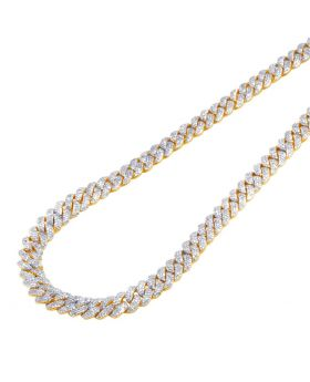 Yellow Gold Miami Cuban Chain 8MM 12.15 CT 21""