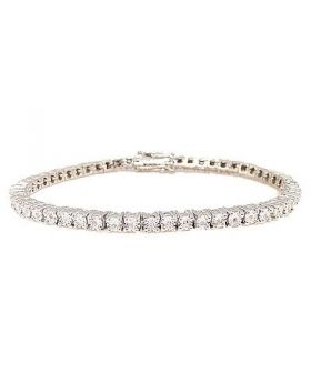 1 Row Diamond White Gold Finish Tennis Bracelet 7 Inches 0.25 Ct