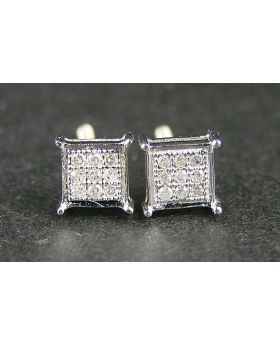 4 Prong Diamond Stud 4mm Earrings In 10K Yellow Gold