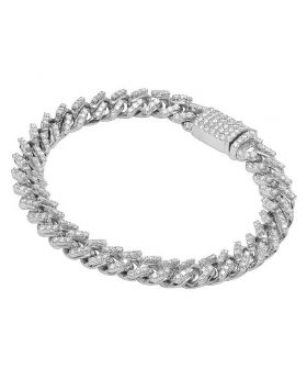 "White Gold Diamond Miami Cuban Link Bracelet 9 MM 8.25"" 5.85 CT"
