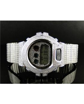 Casio Mens G Shock 6900 Iced Out Simulated Diamond Watch