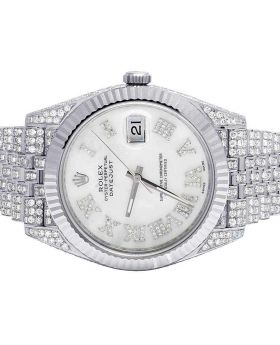 Rolex Datejust II 126334 41MM White MOP Dial Jubilee Diamond Watch 13.0 Ct