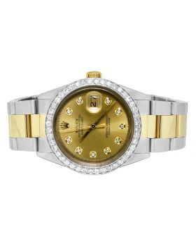 Rolex Datejust 18K/ Steel 36MM Oyster Band Diamond Watch (2.5 ct)
