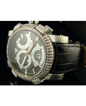 Aqua Master Swiss Auto Diamond Watch (3.5 Ct)