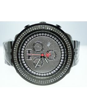 Joe Rodeo/Jojo 2 Row Diamond Watch Black Pvd 1.75 Ct