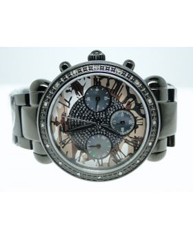 "JBW ""VIctory"" Black Cadet Diamond Watch Jb-6233-C"