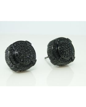 XL Designer Black 3D Pave Diamond Earrings  0.25 Ct