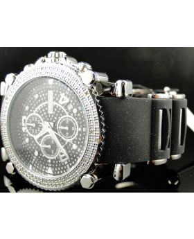 Jojo/Jojino/Joe Rodeo Black Rubber Real Diamond Watch