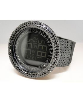Techno Com Kc Digital Simulated Diamond Watch