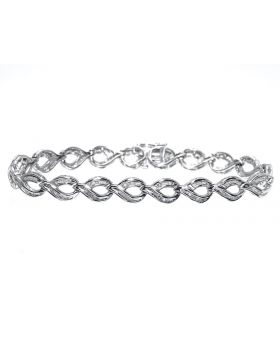 Pear Shaped Bracelet with Baguette Diamond (1.0 ct)