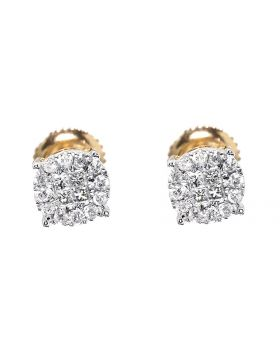 Solitaire Look Earrings in Yellow Gold (0.25 ct)