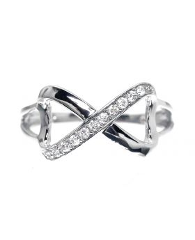 Infinity Ring in Sterling Silver (0.10 ct)