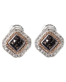 Fashion Earrings With Black Diamonds (0.50 ct)