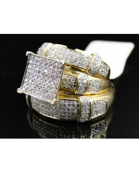 Round Cut Diamond Ring in 10K Yellow Gold (1.50 Ct)
