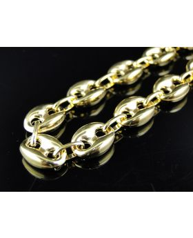 Mariner Style Chain in 10k Yellow Gold (9.5 mm, 24 inch)