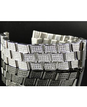 Custom Breitling Super Avenger Diamond Band (8.5ct)