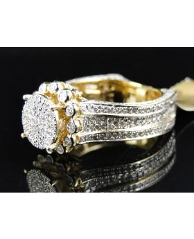 Pave Diamond Eternity Style Ring set in 10K Yellow Gold (2.2 Ct)