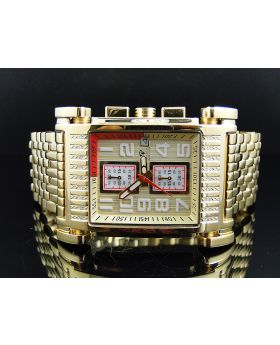 Mens Yellow Gold Aqua Master W#330 Diamond Watch (.25 ct)