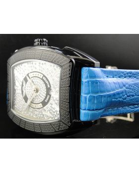 King Master Rounded Blue Reptile Diamond Watch