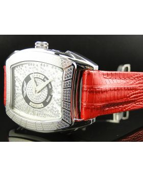 King Master Rounded Red Reptile Diamond Watch