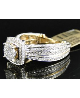 Pave Diamond Eternity Style Ring set in 10K Yellow Gold (2.0 Ct)