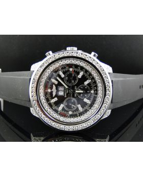 Custom Breitling Bentley 6.75 Diamond Watch (11 Ct)