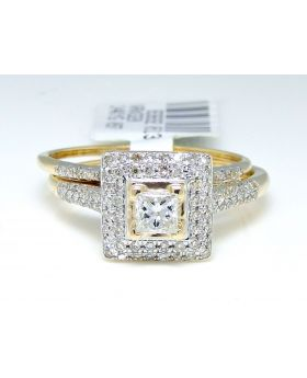 Princess Cut Diamond Ring in 14K Yellow Gold (0.55 Ct)