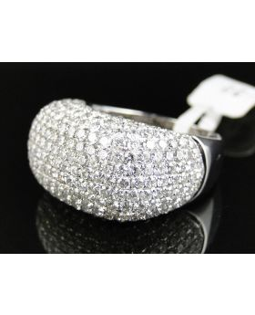 Dome Pave 14mm Round Cut Diamond Ring (7.5 Ct)