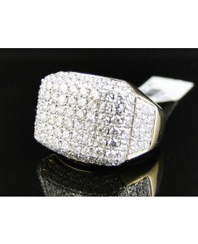 Dome Pave 18mm Round Cut Diamond Ring (5 Ct)