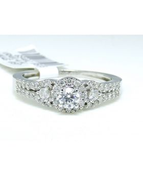 Round Cut Diamond Ring in 14K White Gold (0.55 Ct)