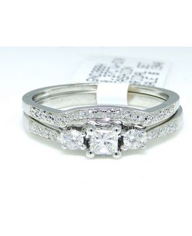 Round Cut Diamond Ring in 10K White Gold (0.37 Ct)