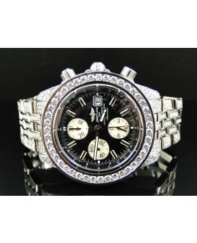 Custom Breitling Evolution 45 MM Diamond Watch (22 Ct)
