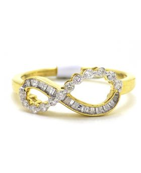 Infinity Diamond Ring set in 10K Yellow Gold (0.25 Ct)