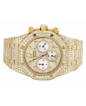 Mens 39 MM Audemars Piguet Royal Oak 18k Yellow Gold with VS diamond (22.45 Ct)