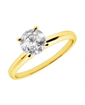 14K Yellow Gold Diamond Solitaire Engagement Ring 1.25ct