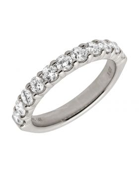 14K White Gold Genuine Diamond Pave Solitaire Bridal Engagement Ring 1ct