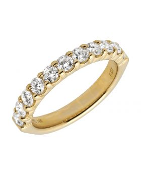 14K Yellow Gold Genuine Diamond Solitaire Bridal Engagement Ring 1ct