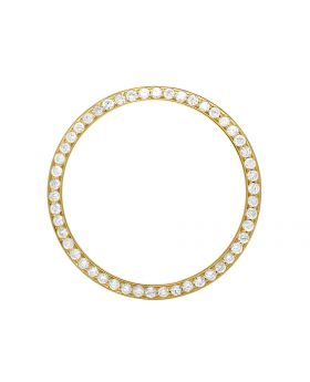Solid Yellow Gold Diamond Bezel for 36MM Rolex President & Datejust 1.75 Ct