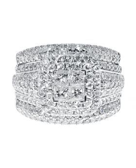 XL Engagement Ring with Princess and Round Diamonds (2.01 ct)