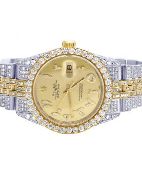 Rolex Datejust 18K/ Steel Two Tone 36MM 16013 Diamond Watch 10.5 Ct