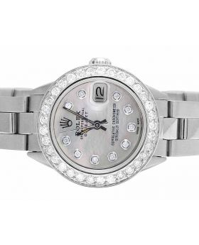 Ladies Rolex Datejust 26MM White MOP Dial Dial Diamond Watch 2.5 Ct